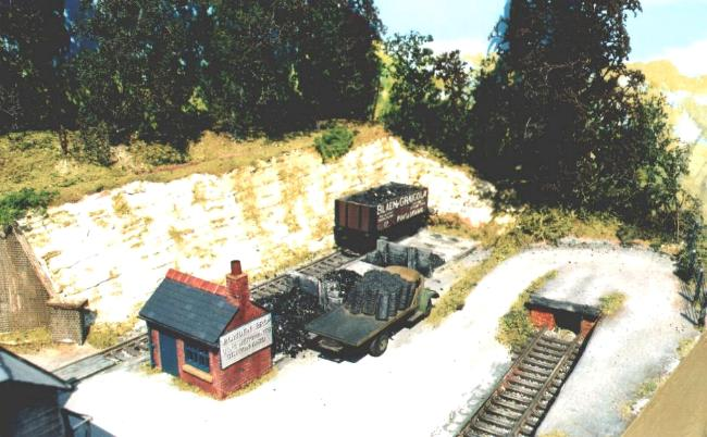 This coal lorry is Mr. McMillan's 'Cuneo   Mouse'.  It has been appeared on almost   every 4mm scale model of his since 1979!