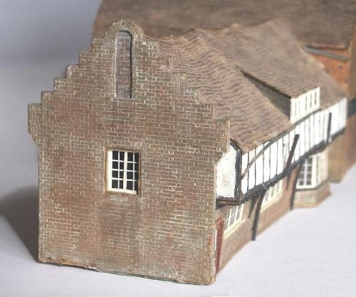 An end view of Prince's  Risboro' Library model.   Click here for more.