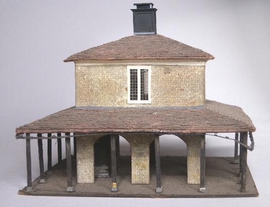 The first of 3 photos of a   model market building.      Click for one of the   real thing...