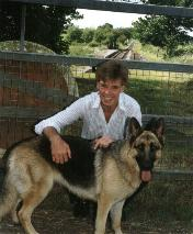 Andy McMillan and   his GSD 'Toyah'.